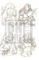 Undercity Games Fantasy Sketch Cards: Elf 1 by cmkasmar