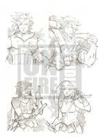 Undercity Games Fantasy Sketch Cards: Elf 2 by cmkasmar