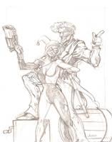 Joker and Harley: PENCILS by cmkasmar