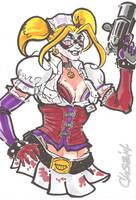 Harley Quinn Arkham Asylum by cmkasmar