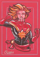 Captain Marvel (Carol Danvers) by cmkasmar