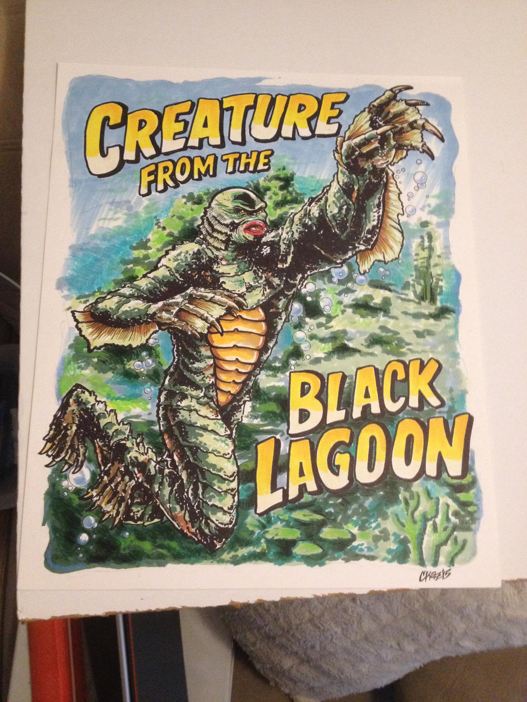Creature from the Black Lagoon by cmkasmar