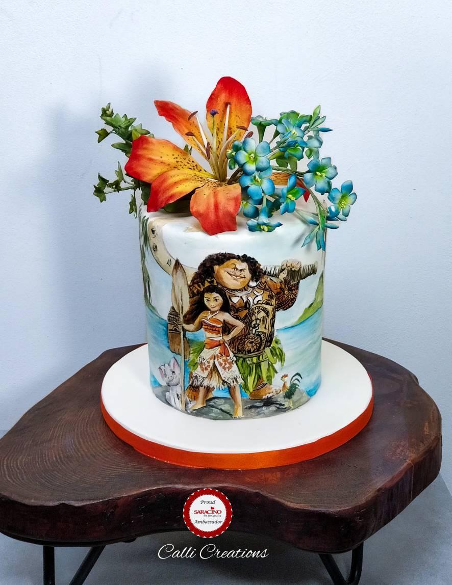 Moana Birthday Cake By Callicreations On Deviantart
