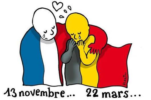 solidarite avec la belgique ..copyright Plantu ..