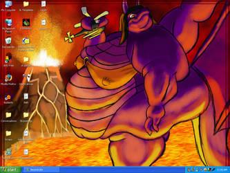 desktop dragon by Draconya