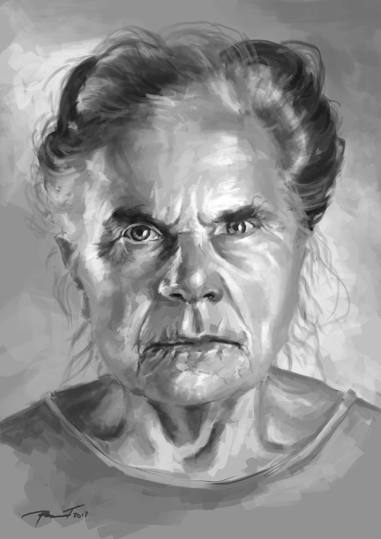 Old Lady Portrait by KardisArt