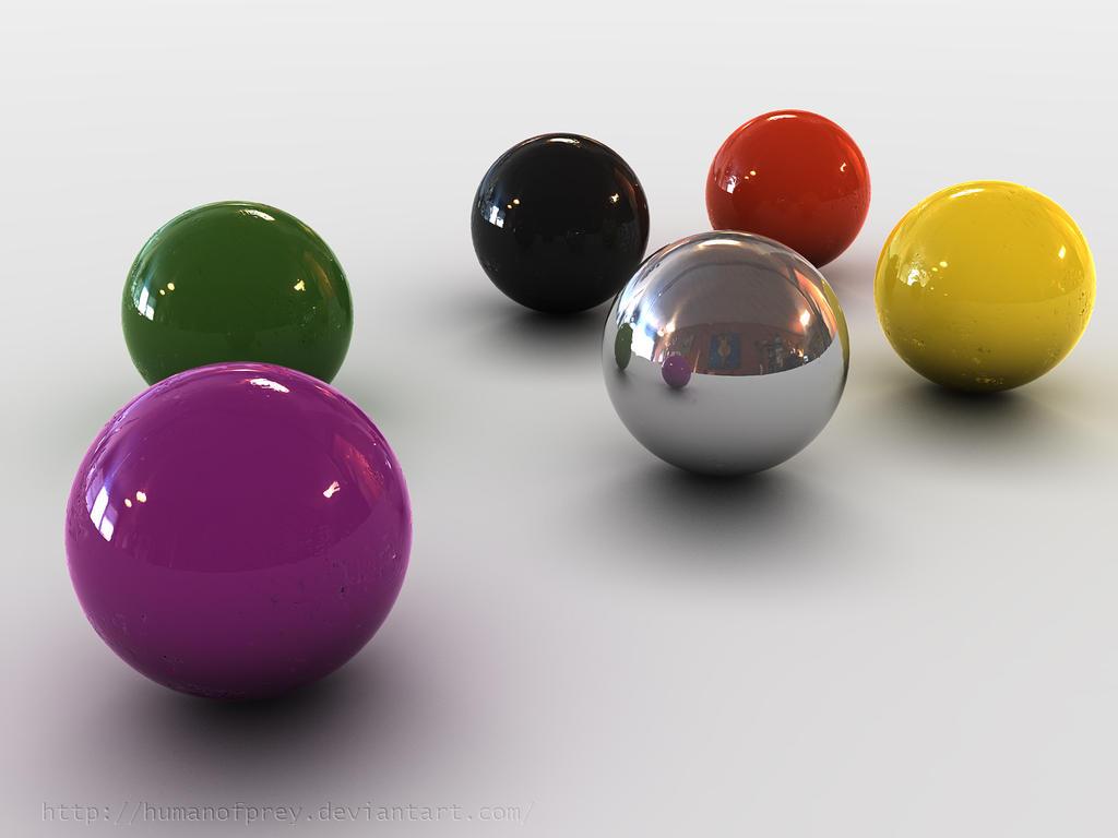 3D colored Balls by humanofprey