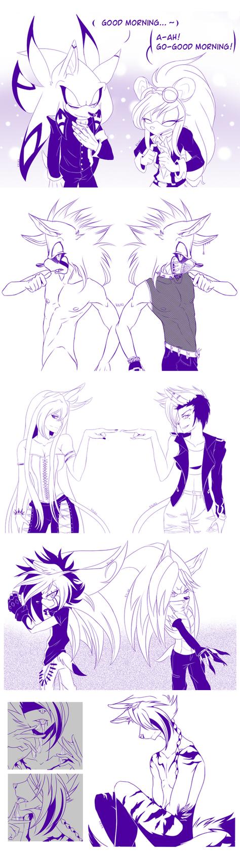 Doodle Dark Linearts by kiuki-10