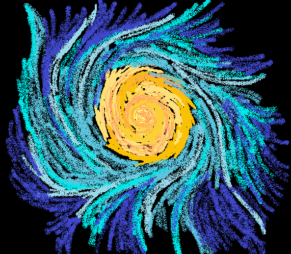 MS Paint Galaxy Practice by MoHowl