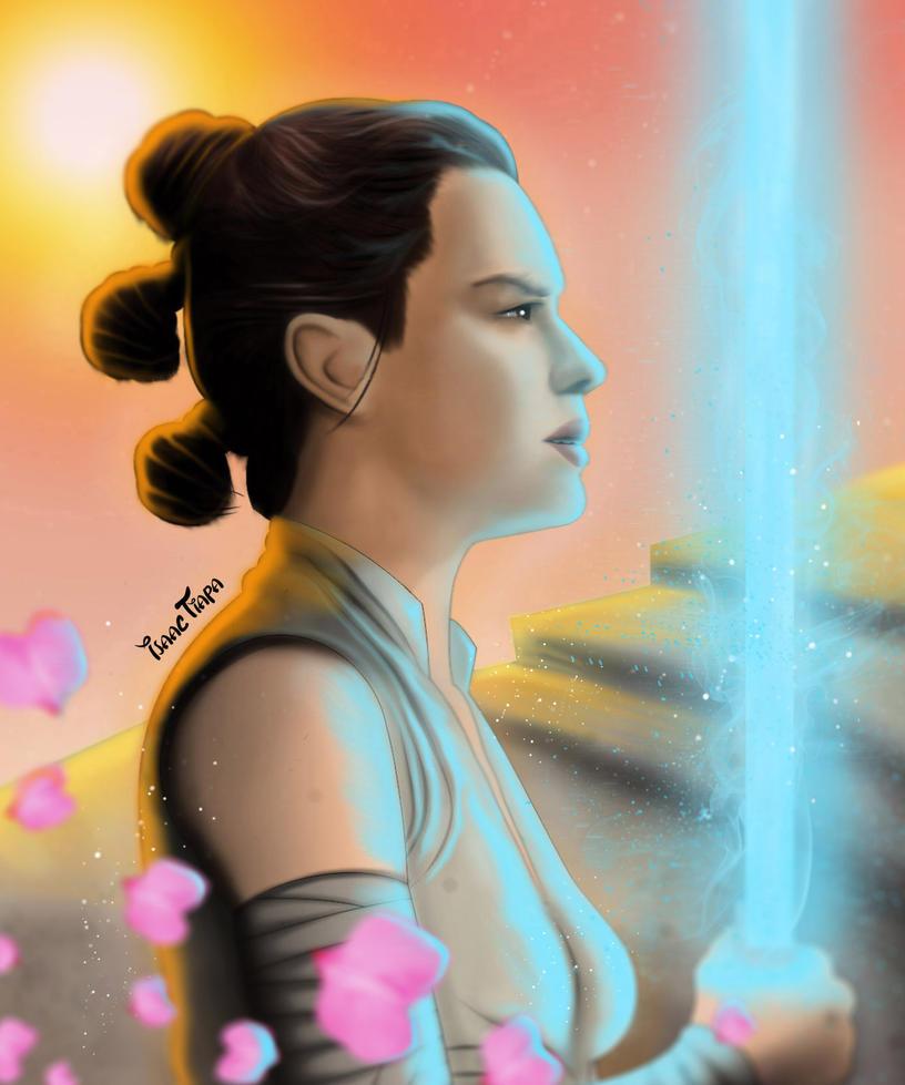 Rey in Jakku by isaactiapa