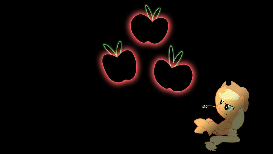 Applejack Glowing Cutie Mark Wallpaper 16:9 by alexram1313