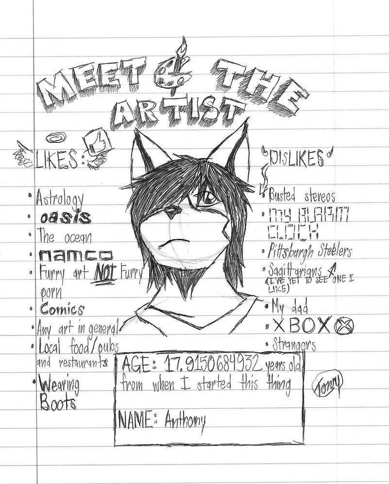 MEME: Meet the Artist! by Tony-Akita