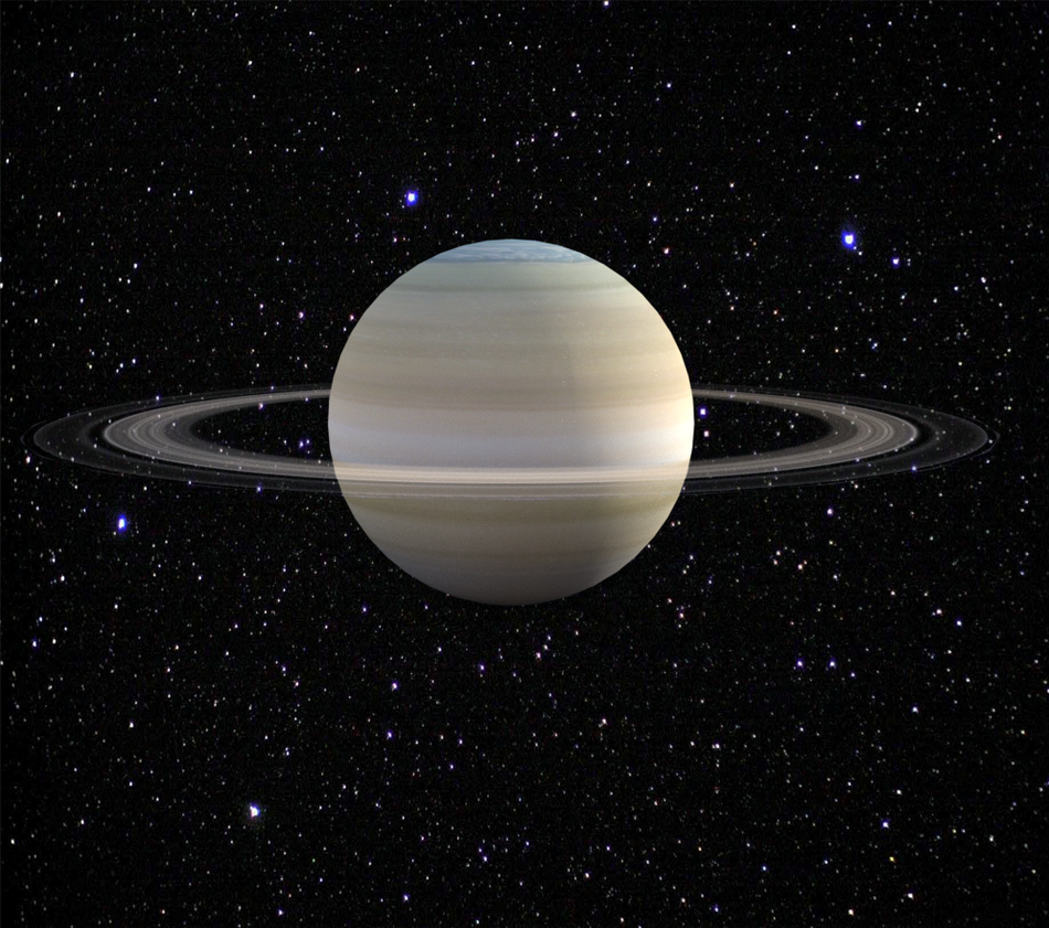 Planet saturn from space