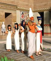 Amarna Royal Family by dazinbane