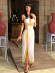 Egyptian Princess and Watchful Anubis
