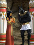 Isis entreating Anubis