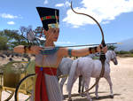 Nefertiti firing arrow