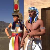 Pharaonic Couple by dazinbane