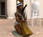 Egyptian harpist