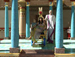 Cleopatra and Caesar revisited
