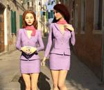Girls In Lilac by dazinbane