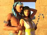 Ramesses And Nefertari Sunset