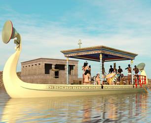 Nefertari Barge Zoom Out by dazinbane