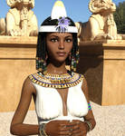 Egyptian Maid And Ram Sphinxes