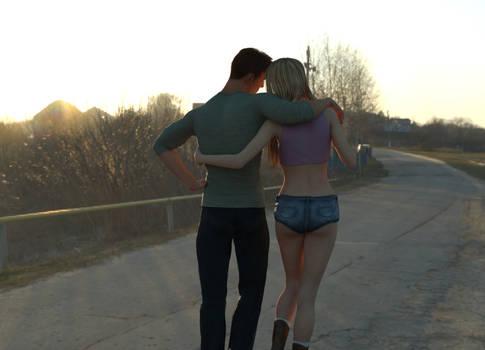 Chad and Yeta strolling