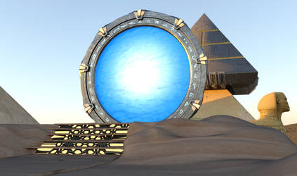 Stargate With Event Horizon