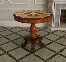Round Antique Table Inlay