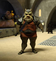 Gamorrean Guard in Jabba's palace