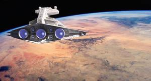 BtJ 1.1 Star Destroyer approaching Tatooine