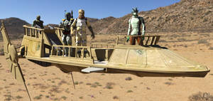 Jabba's Skiff Manned Revised
