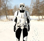Scout trooper in the snow