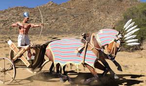 Ramesses In War Chariot