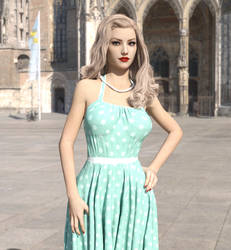 Dotty Turquoise Dress