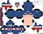 Captain America Star Spangled man cubeecraft