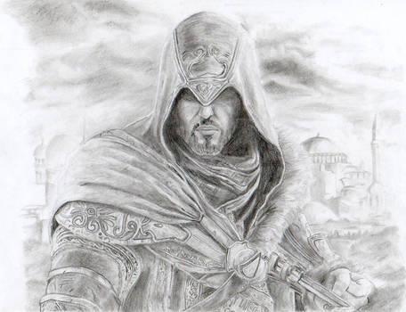 Ezio Revelations (pencil drawing)