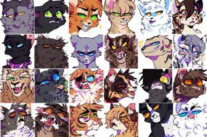 FREE TO USE warrior cats icons