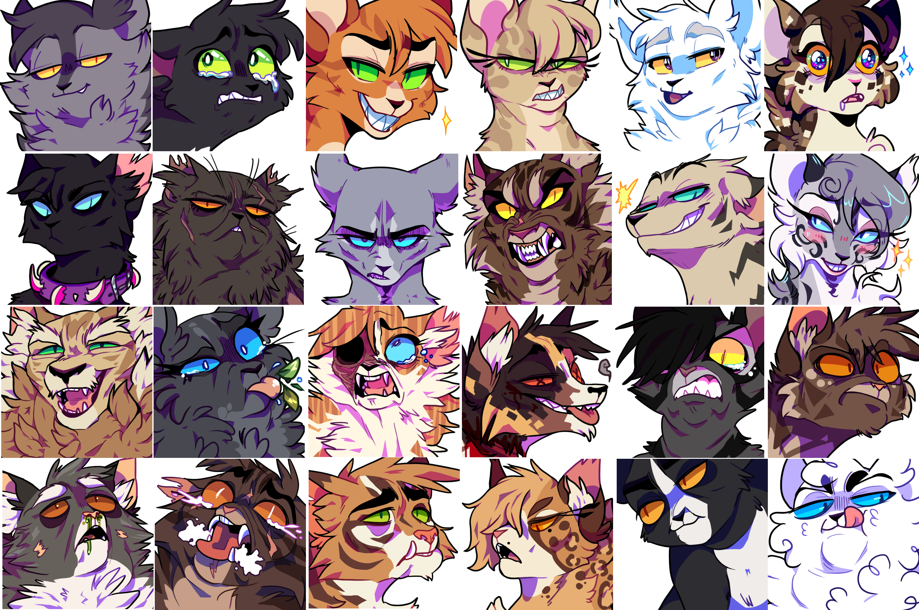 FREE TO USE warrior cats icons by iyd on DeviantArt