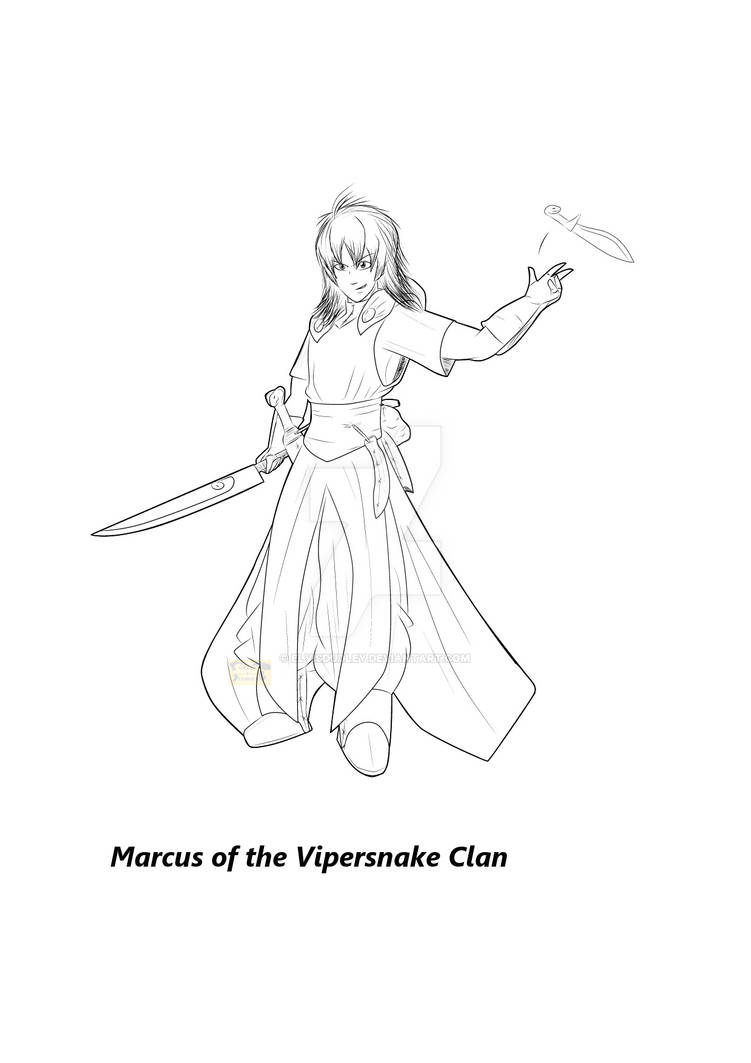 Character Lineart - Marcus OTVC
