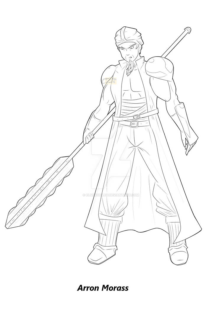 Character LineArt - General Morass