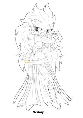 Character LineArt - Destiny
