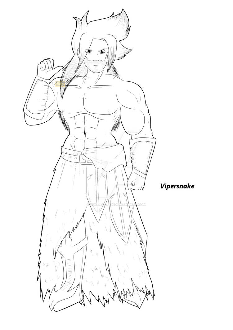 Character LineArt - Vipersnake