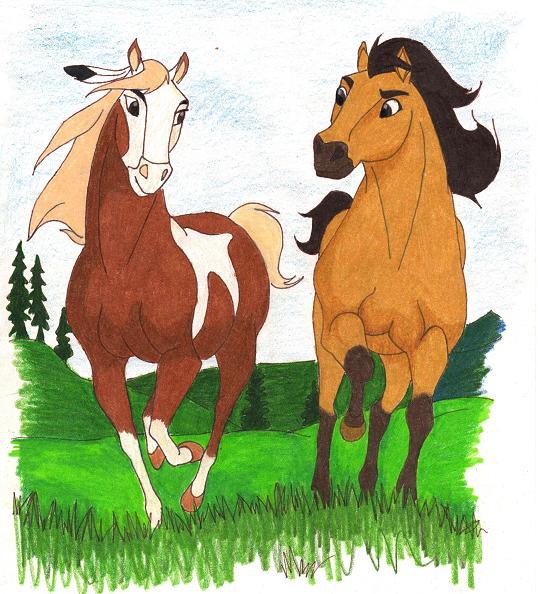 how to draw rain from spirit stallion of the cimarron