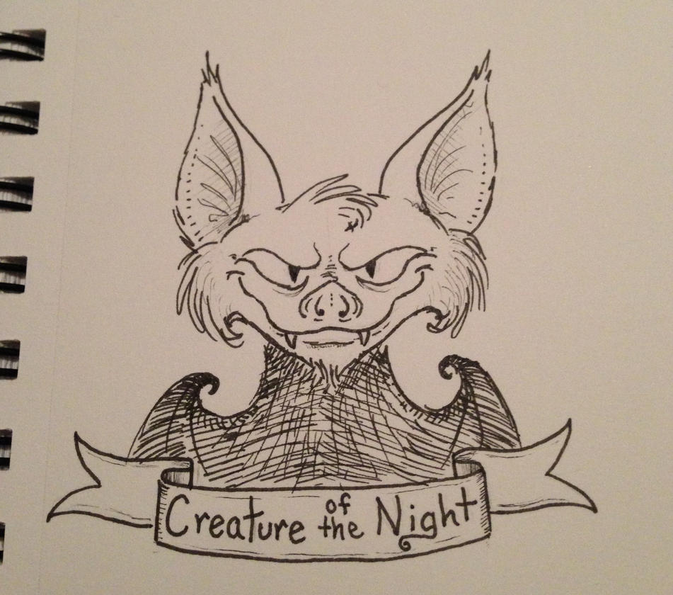 Inktober 1st - Creature of the Night by Smilodonna