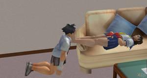Makoto Worships Sakura s Feet