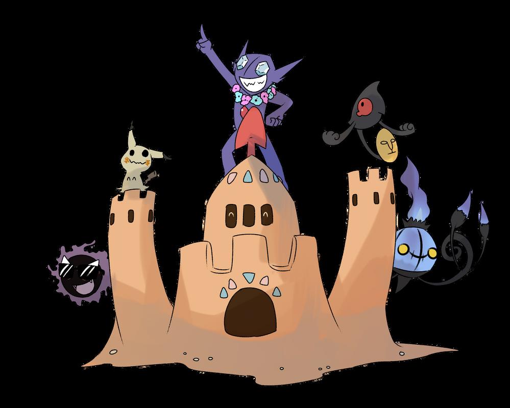 Ghost Pokemon are pretty great by Burdrehnar on DeviantArt for Sandcastle Pokemon  35fsj