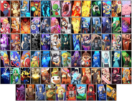 Smash Bros Ultimate Roster by Burdrehnar